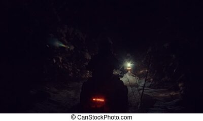 Snowmobile making path for cross-country skiing - Somebody...