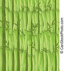 Bamboo with leaf vector illustration. Asian bambu zen plants background