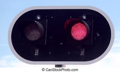 Attention lights for open bridge. - Safety lights for...
