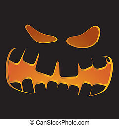 Halloween pumpkin as Jack O`Lantern, part 8, vector...