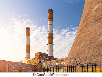 Chimney towers of the power plant