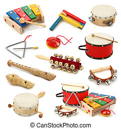 musical, instrumentos, Colección