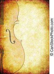 Musical Grunge Background - Musical grunge background. Cello...