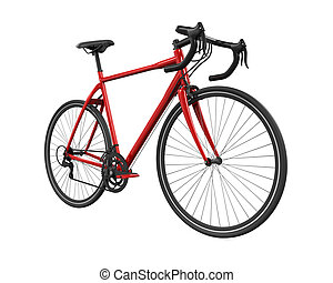 Speed Racing Bicycle isolated on white background. 3D render