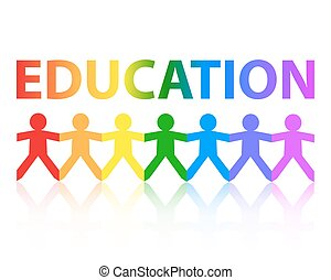 Education Paper People Rainbow