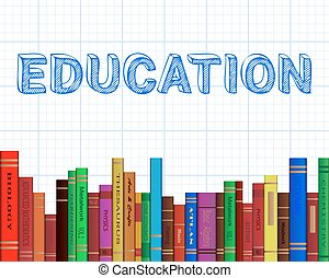 Education Books Graph Paper - Education word on graph paper...