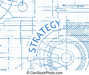 Strategy Graph Paper Machine - Strategy text with gear...