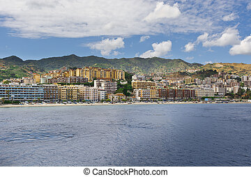 City of Messina - View of the City of Messina from the...