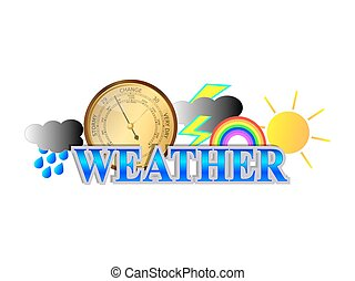 Weather Icon Sign - Weather sign with icons and barometer