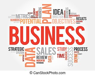 Business word cloud, business concept background