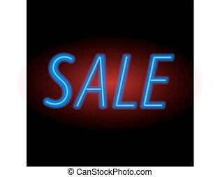 For sale sign neon light.