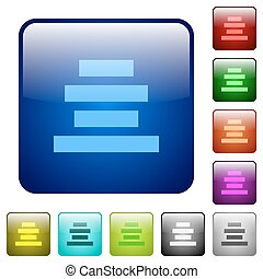 Text align center color square buttons - Text align center...