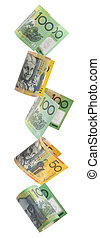 Aussie Money Border - Border of falling Australian money....