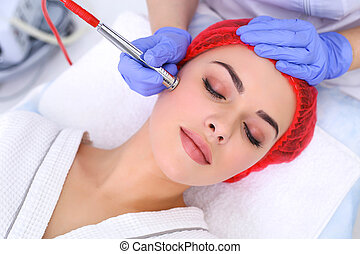 Procedure of Microdermabrasion. Mechanical Exfoliation,...
