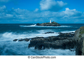 Lighthouse on the West Coast of Cornwall
