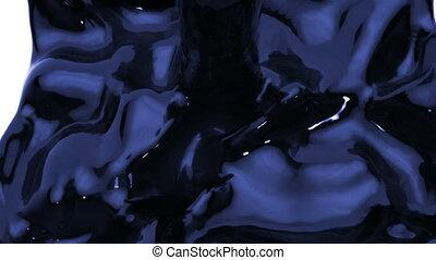 jet of dark blue liquid filling up frame, alpha matte...