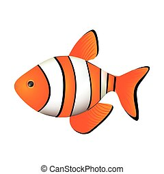 colorful picture clownfish acuatic animal vector...