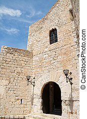 Pope Lunas Castle in Peniscola, Spain - View of the inner...