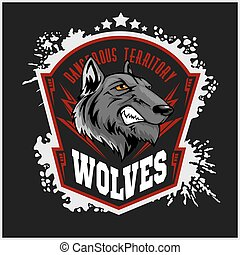 Wolves sports mascot. Howling wolf. - Wolves sports mascot....