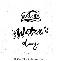 Greeting card of the World Water Day
