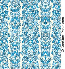 Royal striped seamless pattern. Rococo floral wallpaper. Damask background