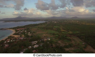 Mauritius Island in Indian Ocean, aerial view - Aerial shot...
