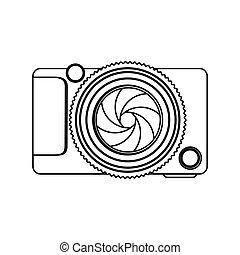 monochrome contour of analog camera