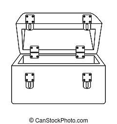 sketch silhouette tool box icon