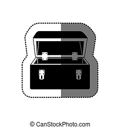 sticker black silhouette with tool box