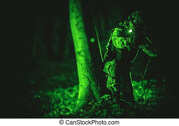 Soldier in Night Vision