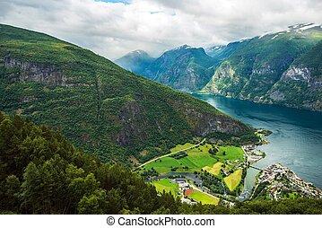 Aurlandsvangen Fjord Scenery - Aurlandsvangen is the Center...