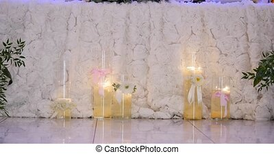 Beautiful wedding decorations with flowers.