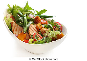 Chicken Salad - Salad with grilled chicken breast, mixed...