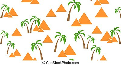 pyramids seamless background - pyramids seamless isolated on...