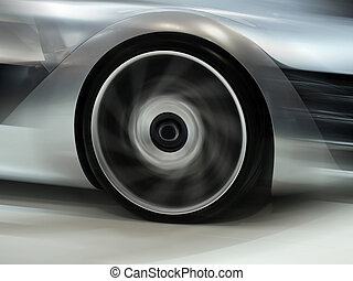High Speed Concept - Future Car motion wheels