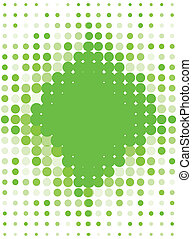Illustration Halftone Pattern Greenery for text. Vector...