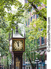 Mid-Day on Steam Clock in Vancouver - The famous steam...