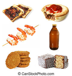 Australian Food - Collection of typically Australian food,...