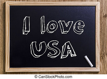 I love USA - New chalkboard with 3D outlined text