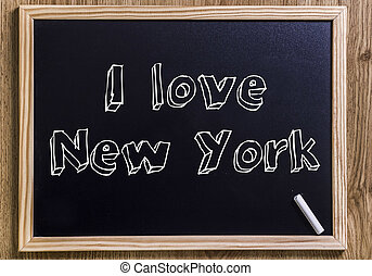 I love New York - New chalkboard with 3D outlined text