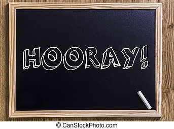 HOORAY! - New chalkboard with 3D outlined text - HOORAY! -...
