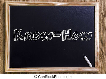 Know-How - New chalkboard with 3D outlined text - Know-How -...