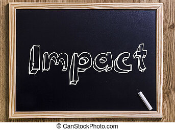 Impact - New chalkboard with 3D outlined text - on wood