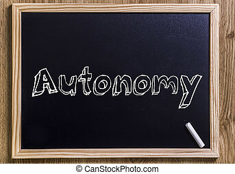 Autonomy - New chalkboard with 3D outlined text - Autonomy -...