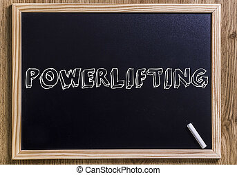 POWERLIFTING - New chalkboard with 3D outlined text - on...