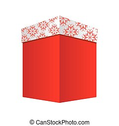square box gift christmas decorative vector illustration