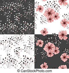 Seamless pattern for floral design. Petunia flower. Vector...