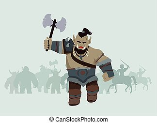 Game Object of Orc - Game object of orc with axe. Orc...
