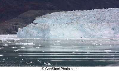 Calving glacier - The Eqi glacier in Greenland calving....