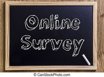 Online Survey - New chalkboard with 3D outlined text - on...